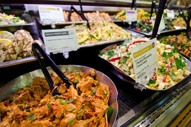prepared foods counter at Whole Foods
