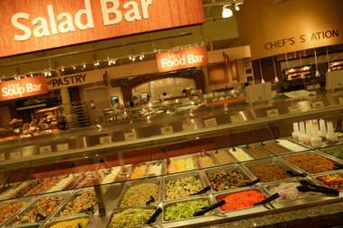 salad bar at Whole Foods