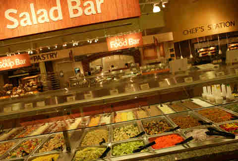 salad bar at Whole Foods