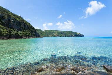 zamami, japan clear waters