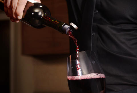 Wine being poured