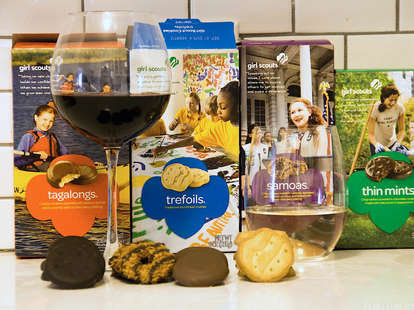 Wine and Girl Scout cookies