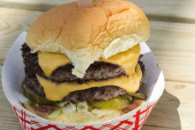double cheeseburger from rippers