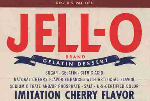 1948 Jell-O packaging