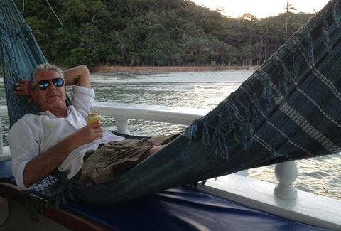 Anthony Bourdain hammock