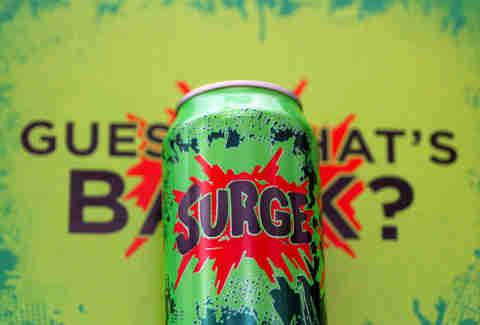 Surge soda can