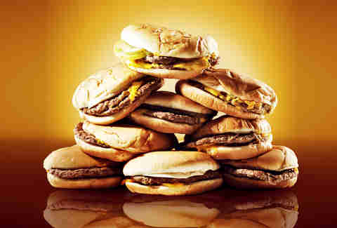 Pile of burgers