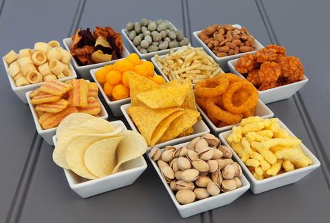 Bowls of snacks