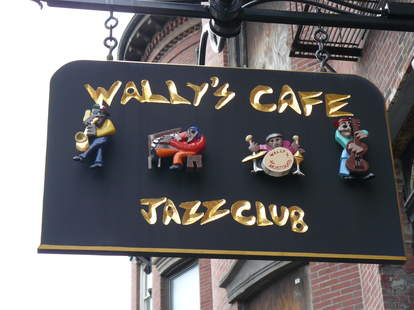 sign of wally's cafe boston
