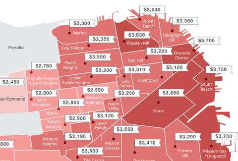 This Map Shows The Stupidly High Rents Across Sf Neighborhoods
