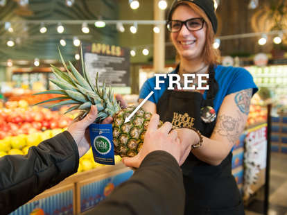 whole foods free pineapple