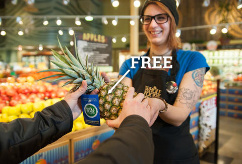 whole foods free pineapple
