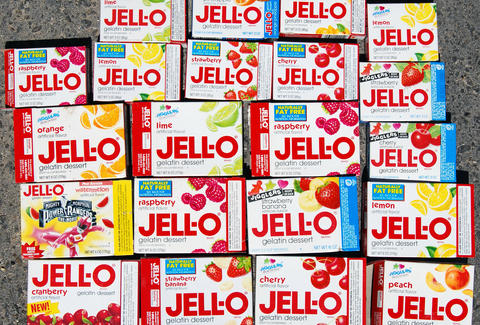 Jell-O boxes