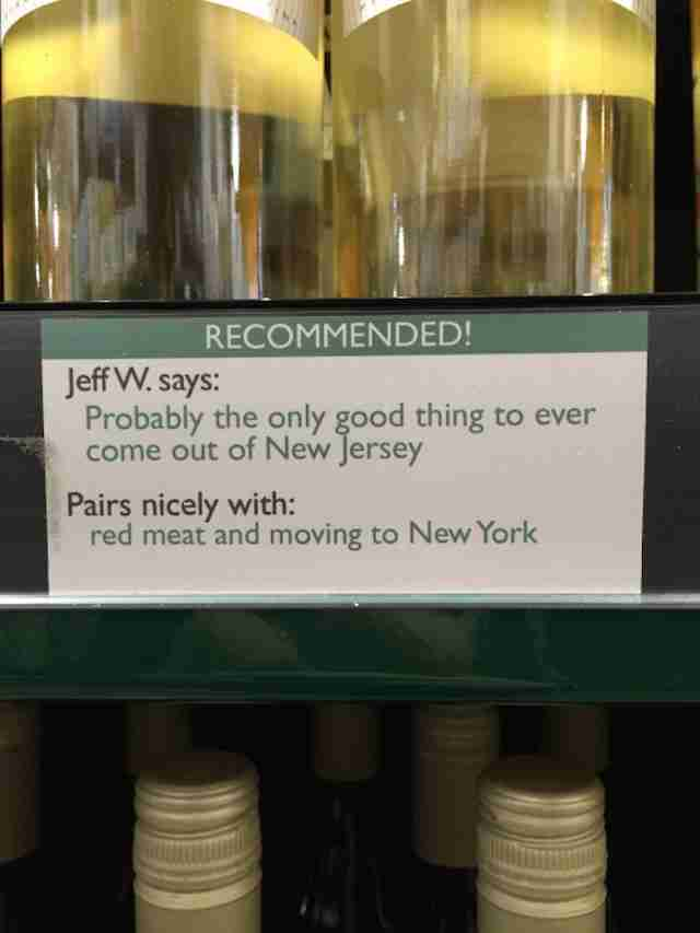 Wine recommendation New Jersey