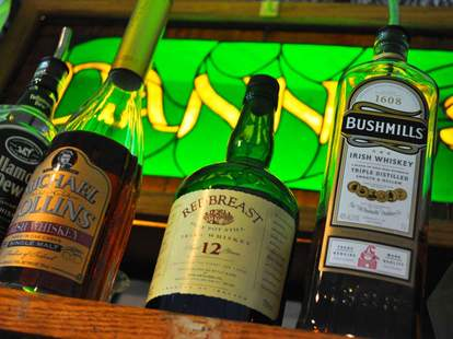 whiskey at danny's irish pub
