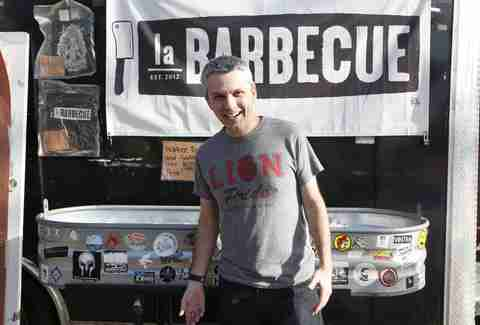 In front of La Barbecue