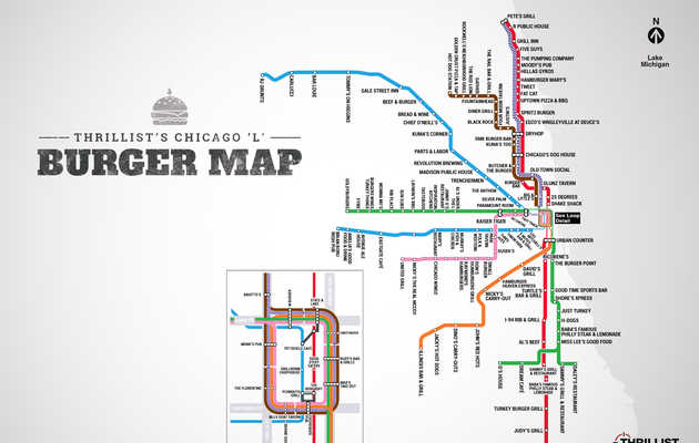"Chicago's First-Ever ""L"" Burger Map"