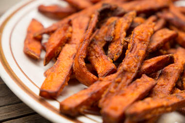 sweet potato fries, french fries