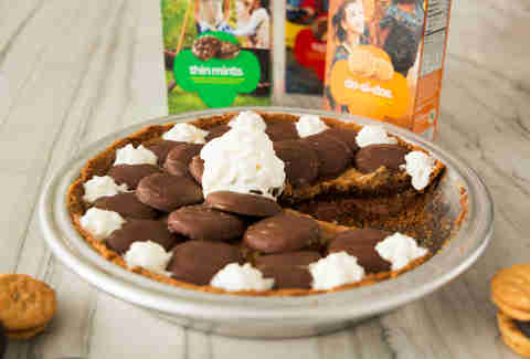 Girl Scout cookie cream pie — Thrillist Recipes