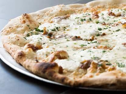 white pizza close up
