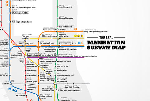 Real Subway Map Nyc.Judgemental Nyc Subway Map Thrillist