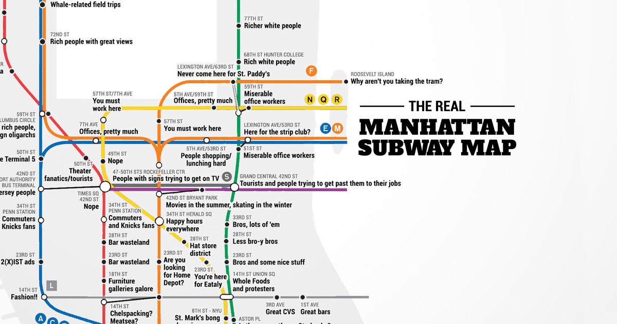 Nyc Subway Map Vs Actual.Judgemental Nyc Subway Map Thrillist