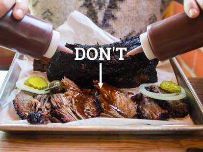 sauce on BBQ