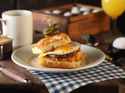 egg on a biscuit from Blue Smoke