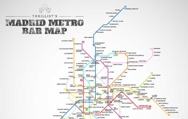 Madrid's First Ever Metro Bar Map