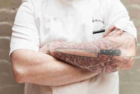 chef with tattoos