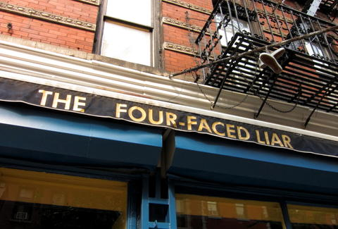 Four-Faced Liar, New York Irish Pubs