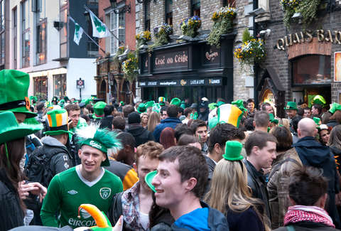 St. Patrick's Day crowd in Dublin