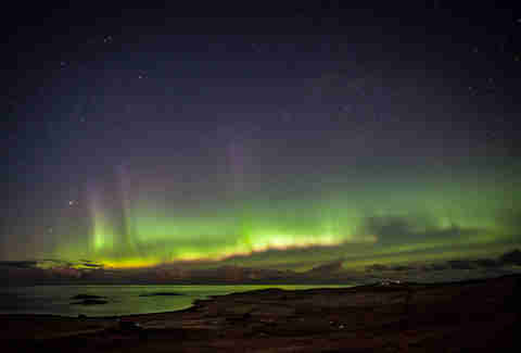 shetland islands scotland northern lights