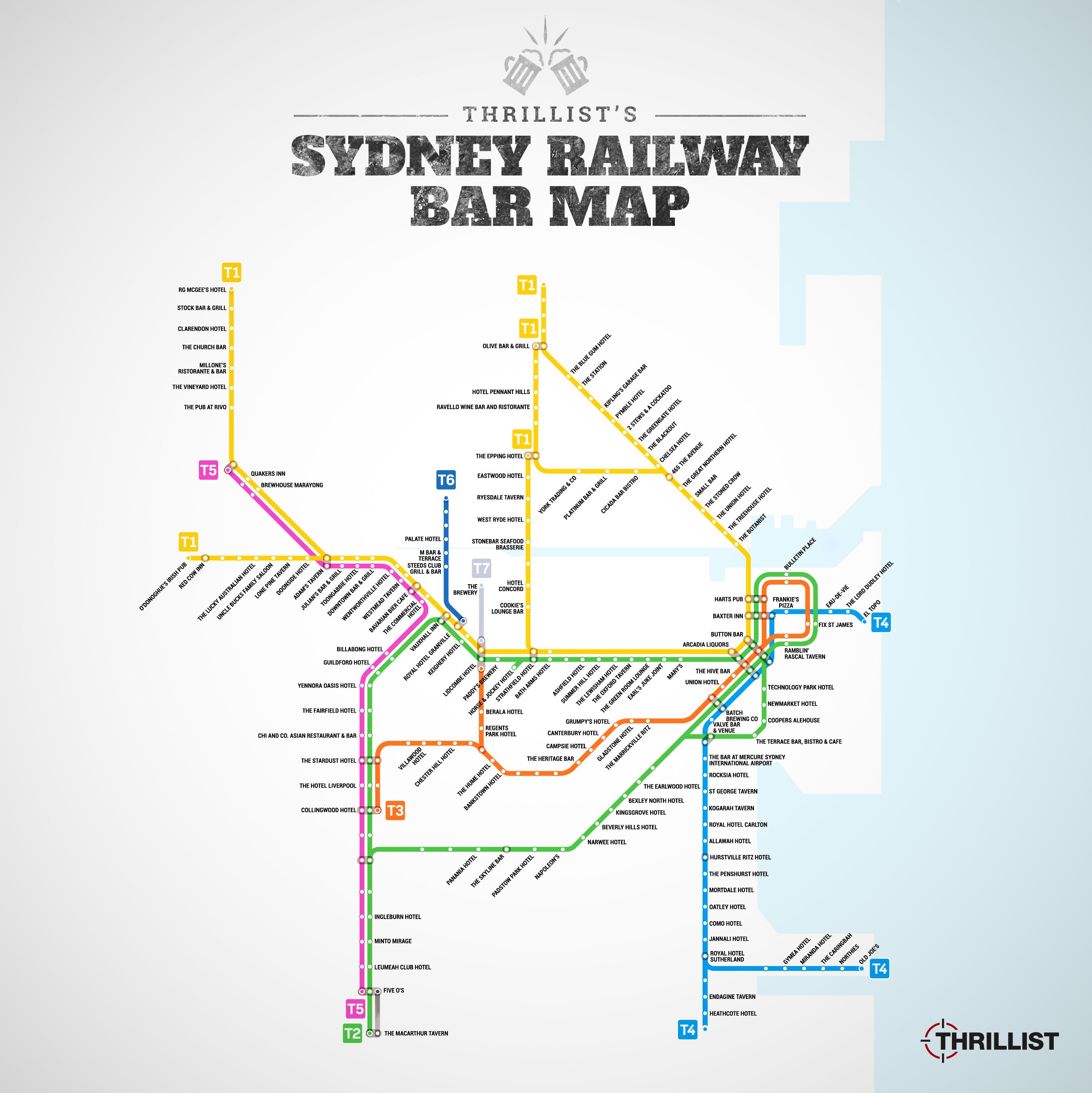 Sydney trains bar map