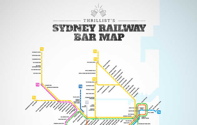 Sydney's First-Ever Railway Bar Map