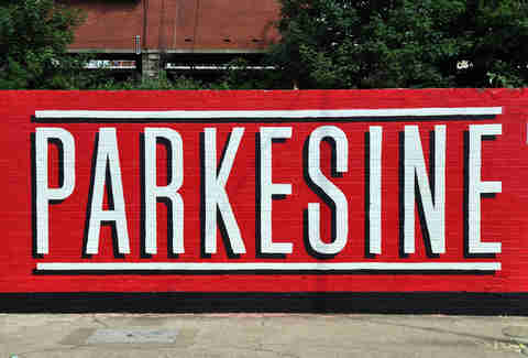 Parkesine sign