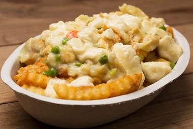 Chicken pot pie poutine -- Thrillist Recipes