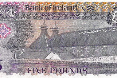 bushmills commemorative bank note