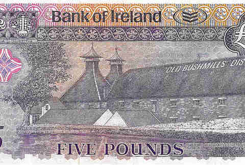 bushmills commemorative bank note