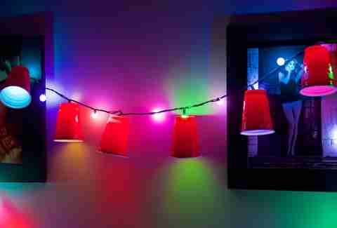 Solo cup party lights