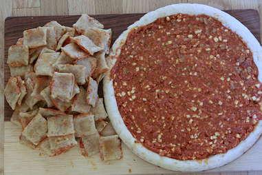 Totino's pizza roll pie