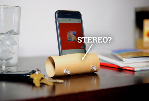 Toilet paper stereo