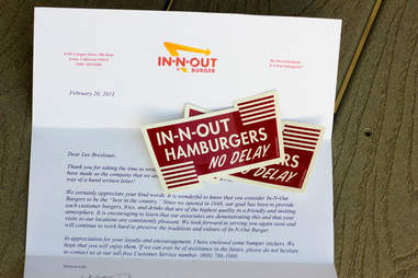 In-N-Out bumper stickers