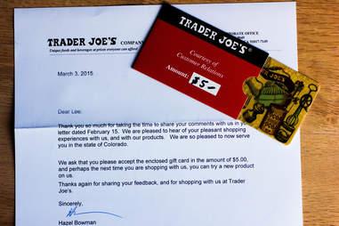Trader Joe's gift card