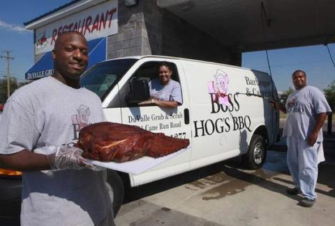 Boss Hog's BBQ truck and meat
