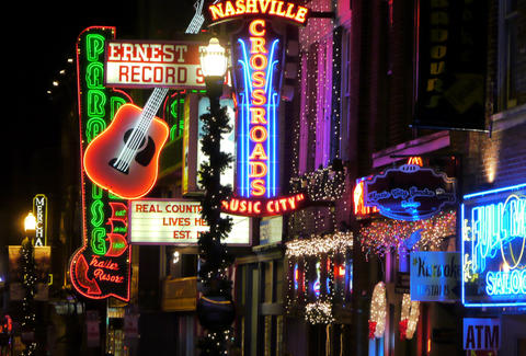 Signs on Broadway Nashville