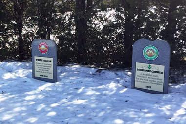 Ben & Jerry's Flavor Graveyard tombstones
