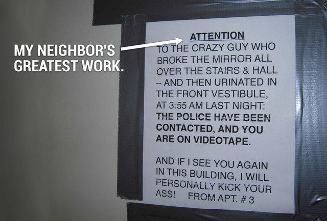 My neighbors are freemasons assholes