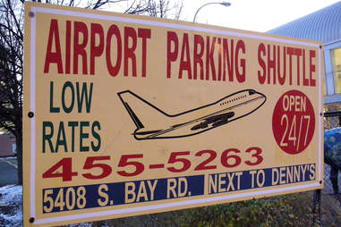 Off-airpot parking