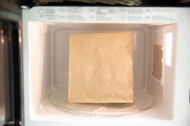 paper bag in microwave